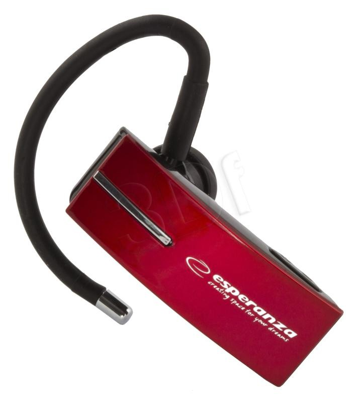 Bluetooth Headset<br> EH134R Esperanza<br>Flores Red