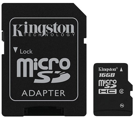 Memory card<br> Kingston microSD<br>16GB + Adapter