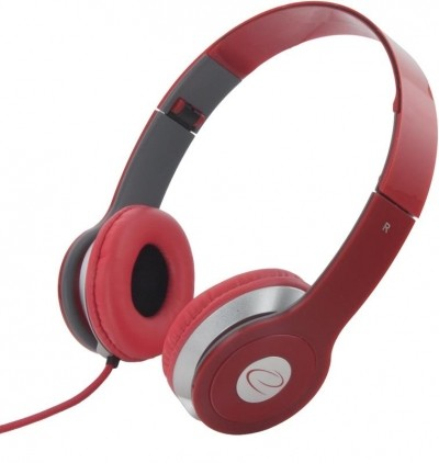 Headphones<br> esperanza EH145R<br>Techno Red