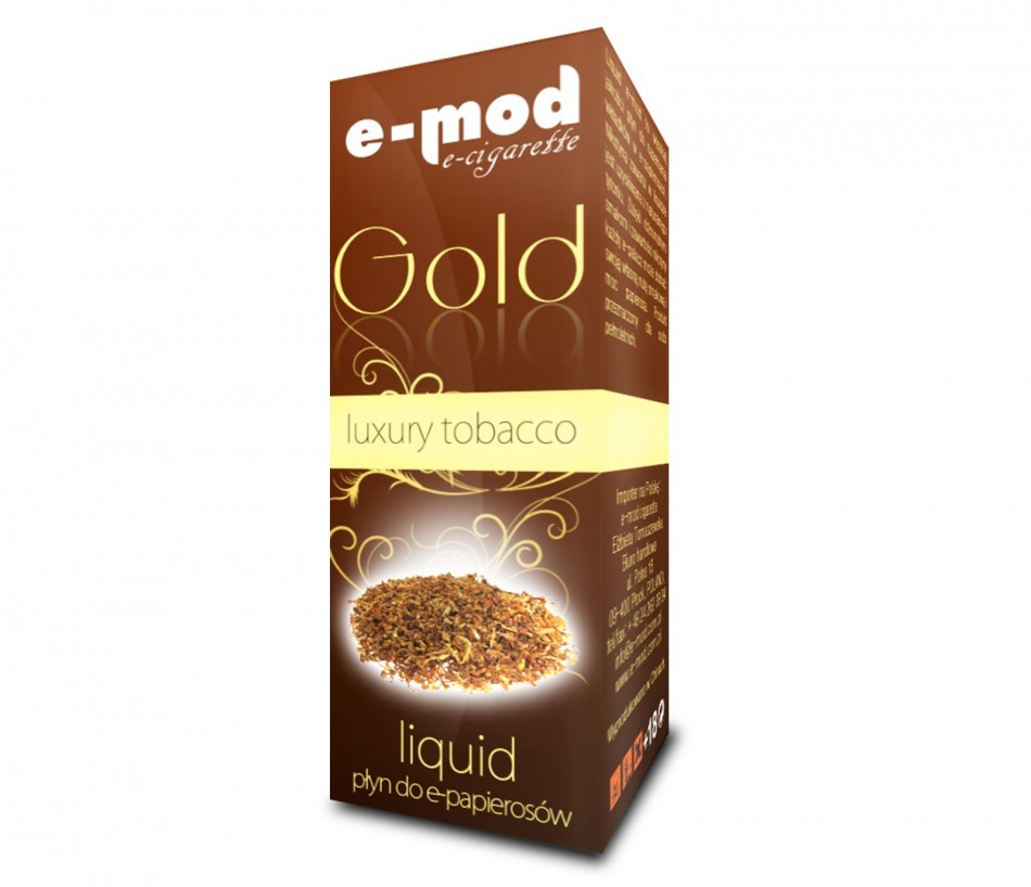 Liquid LUXURY GOLD<br> TOBACCO strong<br>18mg 10ml