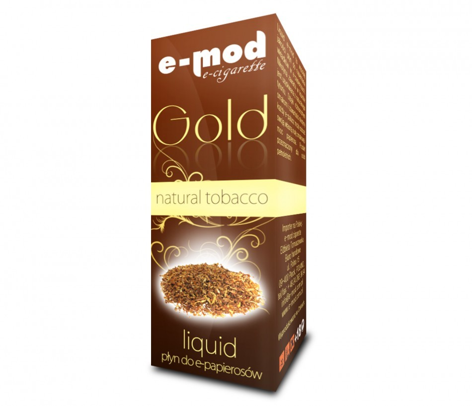 Liquid GOLD<br> NATURAL TOBACCO<br>strong 18mg 10ml