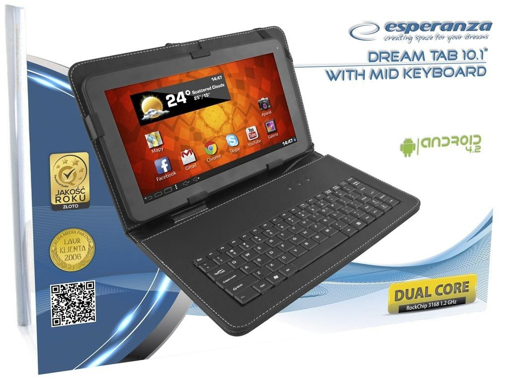 Esperanza ETB104K<br>Dream Tablet Tab 10