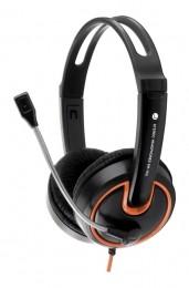 Esperanza<br> Kopfhörer schwarz<br>und orange EH153O